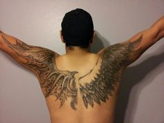 Angel Wings Tattoos are coming more and more popular these days and they come in a variety of different. Check these 25 Angel Wings Tattoos Design Ideas. Wing Tattoo Men, Wing Tattoos On Back, Wing Tattoo Designs, Back Tattoo, Angel Devil Tattoo, Small Angel Tattoo, Demon Tattoo, Angel Wing Tattoos, Tattoo Wings