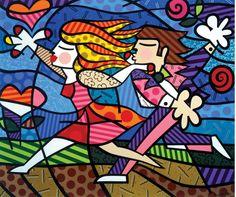 Love Blossoms (1998) by Brazilian artist Romero Brito