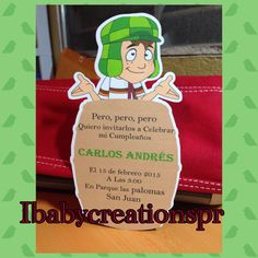 A personal favorite from my Etsy shop https://www.etsy.com/listing/224274554/el-chavo-del-8-birthday-invitation
