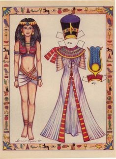 LADY FROM EGYPT PAPER DOLL - by Loraine Morris - (1 of 2) Source:  Marlendy