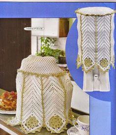 Crochê Gráfico: Jogo de cozinha em crochê                                                                                                                                                     Mais