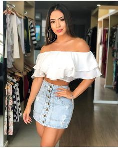Simple weekend outfits that still look chic Cute Cowgirl Outfits, Rodeo Outfits, Edgy Outfits, Grunge Outfits, Skirt Outfits, Cute Outfits, Fashion Outfits, Mexican Fashion, Mexican Outfit