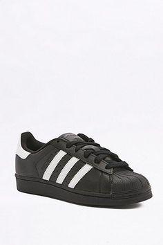 adidas Originals Superstar Black and White Trainers Black And White Shoes,  Black Leather Shoes, 4eb1daeb3a95