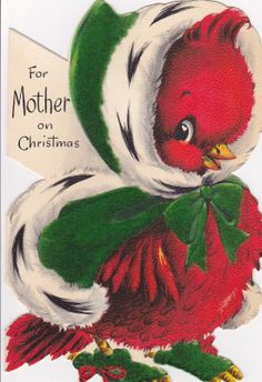 vintage christmas cards | ... the bunny card. I thought it was funny to use bunnies for Christmas