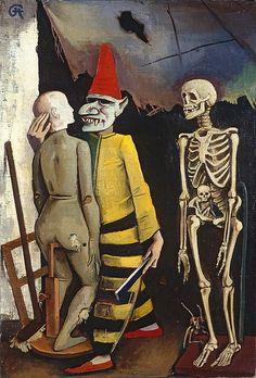 Yellow Dog Blues, 1928 by Karl Hofer (German 1878 -1955)