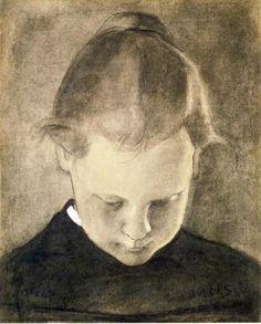 Helene Schjerfbeck  the reading girl