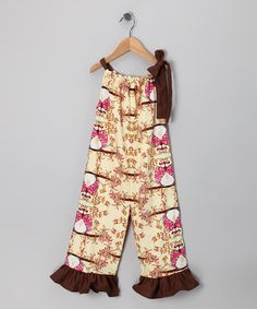 Muchilunga Brown Owl Jumpsuit
