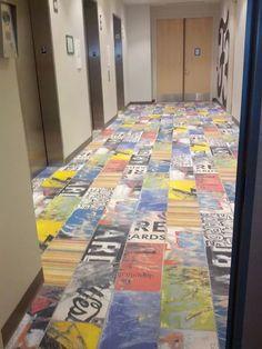 Art of Board Recycled Porcelain Skate Tile Floor // Google Offices in Irvine, CA