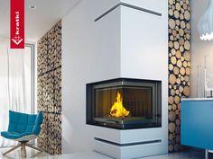 Fireplace ZUZIA 16 kW right type BS #kratkipl #kratki #fireplace #insert #interior #livingroom