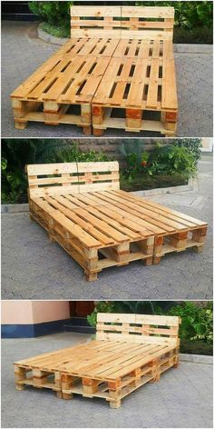 The Best and Easiest DIY Ideas with Recycled Wood Pallets Pallet Bed Frame The post The Best and Easiest DIY Ideas with Recycled Wood Pallets appeared first on Pallet Diy. Pallet Bedframe, Wooden Pallet Beds, Diy Pallet Bed, Diy Pallet Furniture, Wood Pallets, Pallet Ideas, Pallett Bed, Pallet Couch, Beds On Pallets