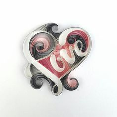 A commission. My love heart redesigned. #quilling #typographyart #instart_heart…