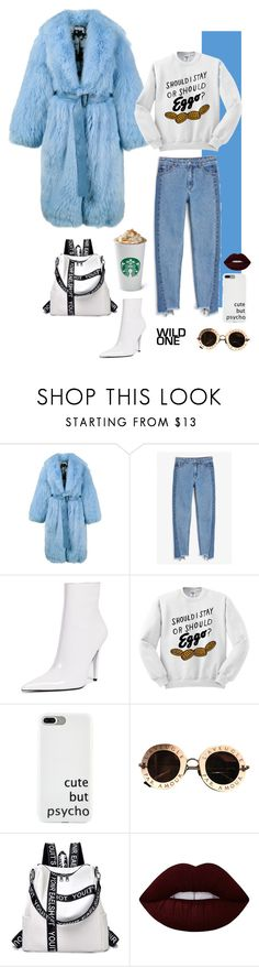 """Senza titolo #223"" by veneredormiente ❤ liked on Polyvore featuring Saks Potts, Monki, Jeffrey Campbell, Gucci and Lime Crime"