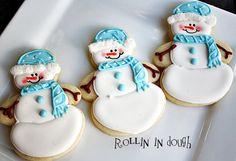 Snowman Cookies Snowmen  1 Dozen by rollinindough on Etsy, $28.00