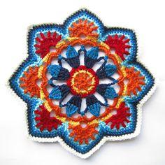 вязать крючком и дизайн: персидские плитки