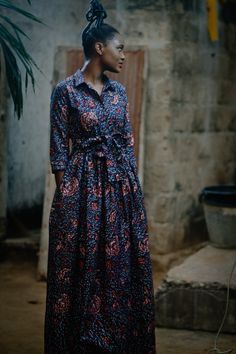 BaZara'Pagne EDZIME collection #africanwax #dress