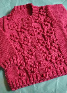 Ravelry: Cardigans with Bobble Vines pattern by Sirdar Spinning Ltd.