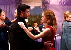 Viktor Krum and Hermione Granger at Bill Weasley's Wedding -- never freaking noticed that!!