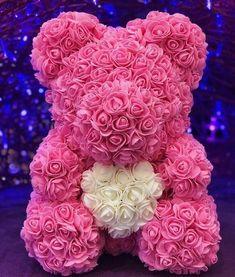 Verde con Caja Oso Rosa Oso De Rosas Peluche Rosa para Mam/á Mujeres su Adolescente ni/ñas Oso Rosa De Aniversario Madre Oso Rosas Oso De Peluche Hecho A Mano Oso Rosa De San Valent/ín Oso De Rosa