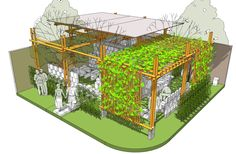 Rancangan Green Business Center yg digagas SMK Prisma Depok