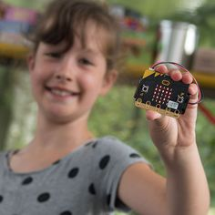 Time Machine   The little device the girl is showing on the picture is a micro bit based escape room. Unique!   Dutch Technology Week