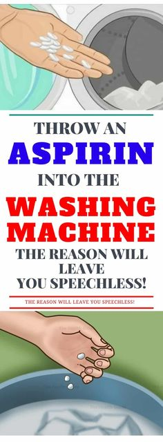 Throw An Aspirin Into The Washing Machine! The Reason Will Leave You Speechless!