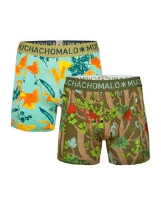 Muchachomalo boxer set voor jongens Wild, groen
