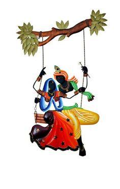 Radha Krishna Images, Radha Krishna Photo, Krishna Photos, Krishna Art, Optical Illusion Paintings, Radhe Krishna Wallpapers, Krishna Flute, Krishna Painting, Cute Cartoon Wallpapers