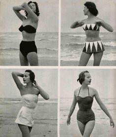 Swimming costumes - 1950. I love you 1950s fashion