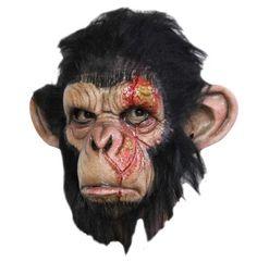 """Maske """"Infected Chimp"""" - der infizierte Affe von Ghoulish Productions. Sehr schöne Affenmaske! Weitere Details auf meiner Homepage: www.halloween-masken.eu  #Affenmaske #Affenkostüm #HalloweenMasken #Karneval #GhoulishProductions #Halloween"""