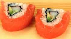 how to make sushi rolls at home - YouTube