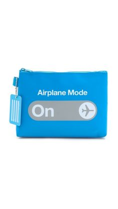 Geek Chic Travel Gear: Flight 001 Airplane Mode Pouch via Best Travel Gear Airplane Mode, Tarpaulin, Tech Accessories, Inspire Me, At Least, Just For You, Lettering, Blue, F1