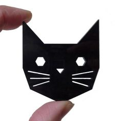Geo Cat Brooch