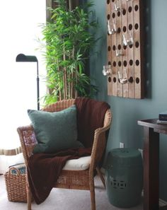 Living/dining room Paint colors from Chip It! by Sherwin-Williams Asian Inspired Bedroom, Asian Bedroom, Bedroom Brown, Blue Bedroom, Teal Wall Colors, Teal Walls, Dining Room Paint Colors, Bedroom Colors, Asian Decor