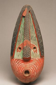 Masque Agit'lik (grand), Kodiak, Alaska, collected by Alphonse Pinart Arte Inuit, Inuit Art, Native Art, Native American Art, American Indians, Ceramic Mask, Art Tribal, Art Premier, Africa Art