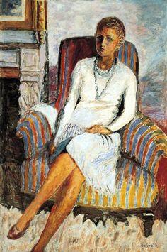 Pierre Bonnard - Portrait of Leila Claude Anet 1930 - Norton Simon Museum Pasadena Pierre Bonnard, Henri Matisse, Maurice Denis, Edouard Vuillard, Paul Gauguin, Figurative Kunst, French Artists, Painting & Drawing, Painting Lessons