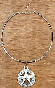 Montana Silversmiths® Silver Texas Star Torque Necklace