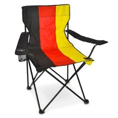 Relaxdays Camping Foldable Chair With Drink Holder Germany Look Portable Outdoor -- Learn more by visiting the image link.