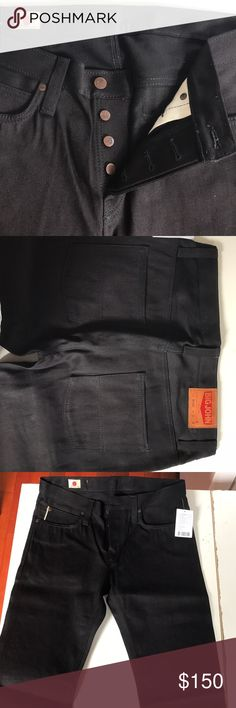 Brand new Big John Black denim jeans Brand new Big John black Japanese raw denim jeans. Never worn, tags attached. 32 waist, 34 length. Lot M106DU. Big John Jeans