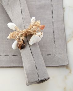 Shell Napkin Rings, Set of 4  Price : 45.00$ Sale Off Price: 31.50$