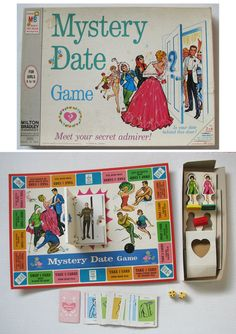 Image detail for -ORIGINAL, VINTAGE 1965 MYSTERY DATE BOARD GAME - Will He Be A DREAM Or ...