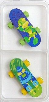 Spencil Skateboard Eraser Set
