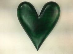 This would be special green wooden heart wall hanging Anniversary present carved wood heart gift. It would make the best personalized Anniversary present! Its a great gift idea for a husband, wife, parents or friends! I am Gary Burns the treewiz and I carved everything in my shop. I can inscribe something on the back to personalize it for no extra charge if it is something simple like a short sentence and date. I do this by hand with a Dremel. It comes ready to hang on the wall. It measures…