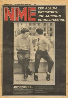 Joy Division NME - sill got my copy! Nme Magazine, Magazine Covers, Rock Band Photos, Ian Curtis, Joy Division, Britpop, Thing 1, Music Magazines, Alternative Music