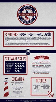 Curriculum Vitae by Rhys Ashman, via Behance