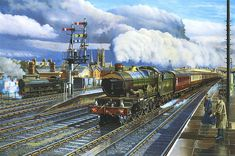 'Castle' class 4-6-0 No. 7027 'THORNBURY CASTLE' passing Leamington Spa General with the down 'Cambrian Coast Express'