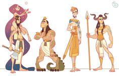 Character Design: Egyptian Gods by MeoMai.deviantart.com on @DeviantArt