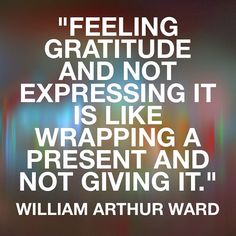 """""""Feeling gratitude and not expressing it is like wrapping a present and not giving it."""" William Arthur Ward  #Quote #QuoteOfTheDay #PhotoOfTheDay #PicOfTheDay #Instagood #InstaDaily #InstaMood #BestOfTheDay #SanFrancisco #Sacramento #California #Motivation #Inspiration #Success #PREINFunding #RealEstate  #Business #Entrepreneur #Luxury #FlippingHouses #Invest #Cashflow #Wealth #BuildingAnEmpire #Millionaire #Dream #Big #Winning #BeastMode"""