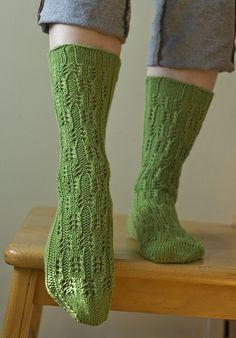 Ravelry: Asparagus Socks pattern by Virginia Sattler-Reimer