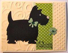 Lucky Scottie Dog Card