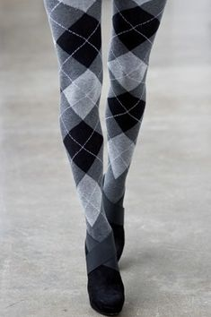 Love these Argyle-patterned tights!